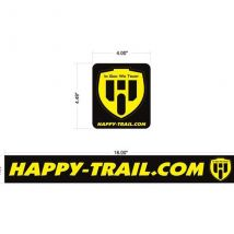 Happy Trails Products Happy Trails Pannier Decals with Shield Logo