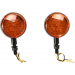 K and S Technologies DOT Turn Signal - LED Single Filament - Amber/Black