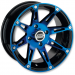 Moose Racing Wheel - 387BU - 12X7 - 4/110 - 4+3