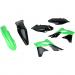 Acerbis Plastic Body Kit - OE '13 Black/Green - KX250F