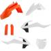 Acerbis Full Replacement Plastic Kit - '17 OE Orange/Black/White - SX65