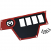 Moose Racing Large Dash Plate - Left - Red - RZR