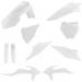 Acerbis Full Replacement Plastic Kit - White