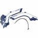 Acerbis X-Grip Frame Guards - Husqvarna - Blue/White