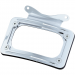 Kuryakyn Curved License Plate Mount - Chrome