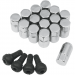 Moose Racing Lug Nut - 10MM - Chrome - 16 Pack