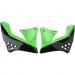 Acerbis Radiator Shrouds - KX 250 F - Black/Green