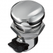 Kuryakyn Push-Button Fuel Door Latch - Chrome