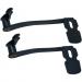 Kuryakyn Extended Brake Pedal - Black - With Lowers