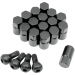 Moose Racing Lug Nut - 12 mm X 1.25 - Black - 16 Pack