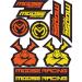 Moose Racing S2 Decal - Moose Racing - Yellow/Orange