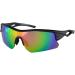 Bobster Dash Sunglasses  - Dash Sunglasses - Matte Black - Pink Revo