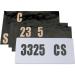Moose Racing License Plate Decal Kit
