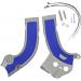 Acerbis X-Grip Frame Guards - YZF - Silver/Blue
