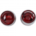 Kuryakyn Deep Dish Bezels - Chrome - Red Lenses