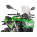 PUIG Touring Naked New Generation Windscreen - Clear - Kawasaki