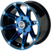 Moose Racing Wheel - 387BU - 14X7 - 4/156 - 4+3