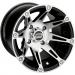 Moose Racing Wheel - 387M - 12X8 4/110 4+4