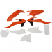 Acerbis Full Replacement Plastic Kit - '18 OE Orange/Black/White - SX85