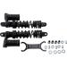 "Progressive Suspension 970 Series Piggyback Shocks - Gloss Black/Matte Black - 13.00"""