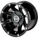 Moose Racing Wheel - 387B - 12X8 - 4/110 - 4+4