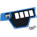 Moose Racing Large Dash Plate - Left - Blue - RZR