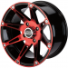 Moose Racing Wheel - 387RD - 12X7 - 4/110 - 4+3