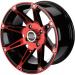 Moose Racing Wheel - 387RD - 12X7 - 4/156 - 4+3