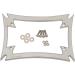 Motherwell Maltese License Plate Frame - Chrome