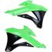 Acerbis Radiator Shrouds - KX 85/100 - Green/Black