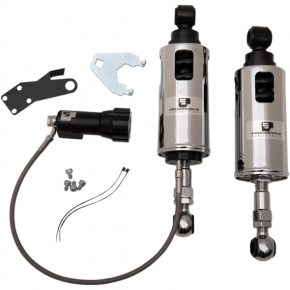 Progressive Suspension 422 Series Adjustable Shocks - Chrome - Heavy-Duty