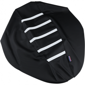 Parts Unlimited Ribbed Seat Cover - Black/White - Polaris
