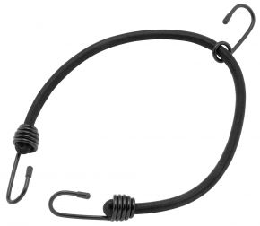 "Bikemaster Heavy-Duty Black Bungee Cords - 24"" CORD WITH 3 HOOKS - Black - 24"""