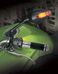 "Bikemaster Revolver Bar End Grips - Silver - 7/8"""