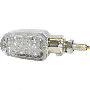 K and S Technologies Turn Signal - DOT&E-mark - Single Filament - Chrome/Clear