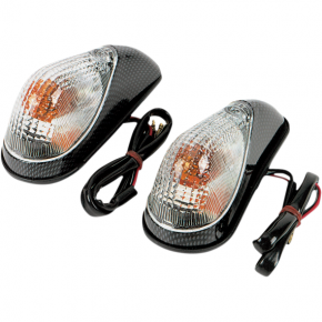 K and S Technologies Mini Wing Marker Lights - Carbon/Clear