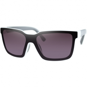 Bobster Boost Sunglasses - Gloss White Gray Temples
