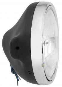 "Bikemaster 7"" Slim Side Mount Headlight - MATTE BLACK - 7"""