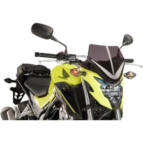 PUIG New Generation Windscreen - Dark Smoke - CB300F