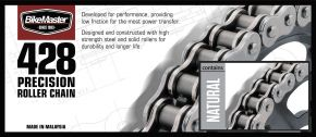 Bikemaster 428 Precision Roller Chain - Natural - 428 - 428 X 86