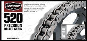 Bikemaster 520 Precision Roller Chain - Natural - 520 - 520 X 82