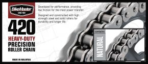 Bikemaster 420H Heavy-Duty Precision Roller Chain - Natural - 420