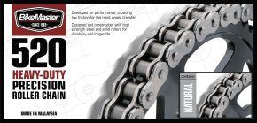 Bikemaster 520H Heavy-Duty Precision Roller Chain - Natural - 520 - 520H X 82