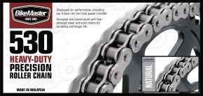 Bikemaster 530H Heavy-Duty Precision Roller Chain - Natural - 530