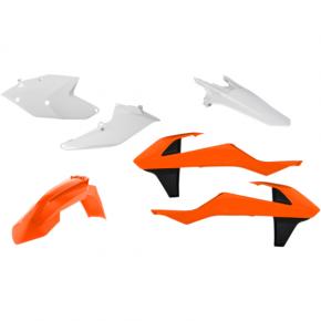 Acerbis Plastic Body Kit - Black/Orange/White