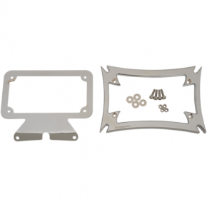 Motherwell Maltese License Plate Frame with Bracket - Chrome