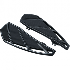 Kuryakyn Phantom Driver Floorboards - Gloss Black - Harley-Davidson Touring '83-'19