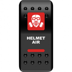 Moose Racing Rocker Switch - Helmet Air - Red