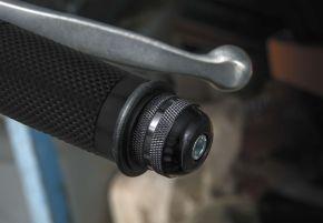 "Bikemaster Anti-Vibration Bar Ends - 1"" - Black - 1"""