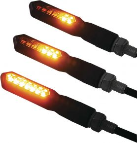 Bikemaster Sequential LED Turn Signals - Black - HF101108